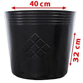 10 Chậu 40X32X32cm nhựa PE dẻo trồng cây bền từ 5 đến 10 năm-77112