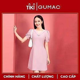 Đầm nữ thiết kế cổ tim phối nút GUMAC DA9242