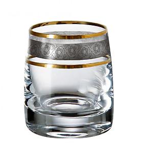 Bộ 6 ly uống rượu mạnh Tiệp khắc mạ platin vàng 24% 060 ml