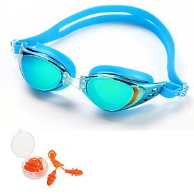 Kính Bơi Cleacco Polycarbonate Cao Cấp Chống Sương Mù , Tia Cực Tím Tặng Kèm Bịt Tai Và Đệm Mũi