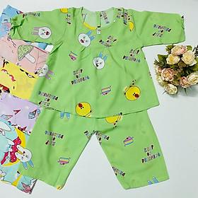 Combo 3 bộ đồ bộ bé gái chất vải Tole, lanh tay dài mềm, mịn mát Tole- TomTom Baby, hàng Việt Nam chất lượng