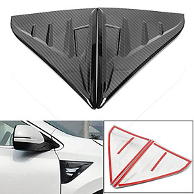2x Carbon Fiber Style Front Body Side Hood Vent Emblem Trim For Honda CRV 2017-2018