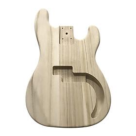 Polished Wood Type Electric Guitar Barrel DIY Electric Maple Guitar Barrel Body For PB Style Bass Guitar - Maple