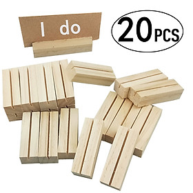 20PCS Creative Decoration Of Wooden Crafts Home Decoration Memo Clip Message Card Base