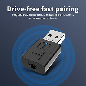 USB Bluetooth 5.0 Transmitter Receiver 3.5mm AUX Audio Cable for TV PC Car Speaker