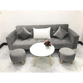 Bộ ghế sofa giường 2mx90 sofa bed tay vịn phòng khách salon sopha linco16