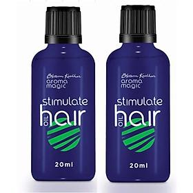 Combo 2 dầu kích thích mọc tóc, trị rụng tóc Aroma Magic 40ml Stimulate Hair Oil(20mlx2chai)  Bộ quà tặng Aroma Magic