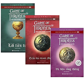 Combo 3 Cuốn Trò Chơi Vương Quyền (Game of Thrones): Trò Chơi Vương Quyền 4B - Lời Tiên Tri + Trò Chơi Vương Quyền 5B - Trấn Thủ Thành Meereen + Trò Chơi Vương Quyền 5C - Vũ Điệu Rồng Thiêng