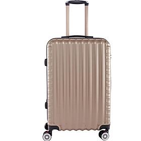 Vali kéo du lịch 840 nhựa ABS chịu lực tốt - màu đồng