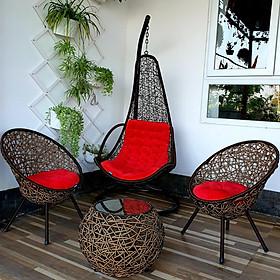 Bộ bàn ghế sân vườn + xích đu N4