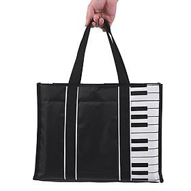 Túi Xách Chống Nước Hình Phím Đàn Piano Lót Cotton Dày 5mm