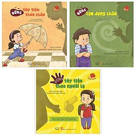 Combo Bộ Sách Tự Bảo Vệ Mình: Đừng Tùy Tiện Thơm Cháu + Đừng Lạm Dụng Cháu + Đừng Tùy Tiện Theo Người Lạ (3 cuốn - Tặng kèm Bookmark Happy Life)