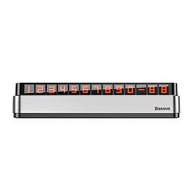 Bảng số dạ quang Baseus Moonlight Box Series Temporary Parking Number Plate dùng cho xe hơi ( Nam châm, hợp kim nhôm + nhựa cao cấp) LV546 [Hàng Chính Hãng]
