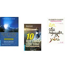 Combo 3 cuốn sách: Khát Vọng Từ Trái Tim (Bìa Cứng) + 10 Quy Luật Cuộc Sống + Ăn, cầu nguyện, yêu (Tái bản)