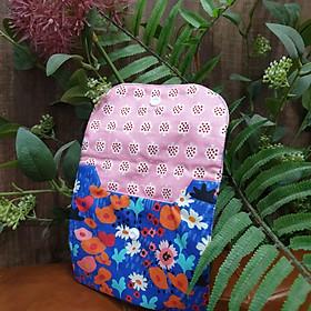 Túi nhỏ handmade đựng băng vệ sinh và đồ dùng cá nhân mẫu hoa xanh ngọt ngào