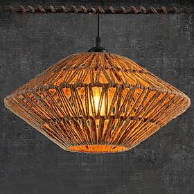 Đèn thả trang trí dây đan hình đĩa bay độc đáoT001Y Tặng kèm bóng led UK LAMP