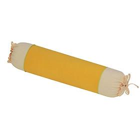 Gối ôm 30x90 cm cotton xốp màu Hometex - Màu vàng