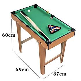 Đồ chơi bàn Bi-A bằng gỗ Table Pool TP-70 chân cao kích thước 70x40x60cm phù hợp với nhiều lứa tuổi