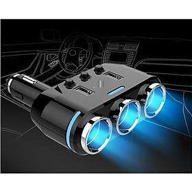 Bộ chia tẩu sạc trên ô tô đa năng B39 (Có chức năng sạc nhanh và thiết bị đo điện áp khi sử dụng )