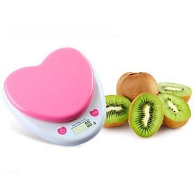 Cân điện tử mini hình trái tim nhà bếp 5kg/1g