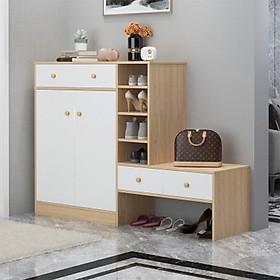 Tủ để giày bằng gỗ cao cấp, tủ giày dép TUR071
