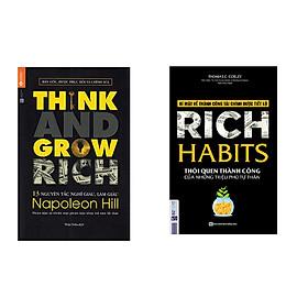 Combo sách 13 Nguyên Tắc Nghĩ Giàu Làm Giàu - Think And Grow Rich và Rich Habit - Thói Quen Thành Công Của Những Triệu Phú Tự Thân tặng cuốn rèn luyện kĩ năng cho bé