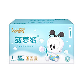 Babu Beans (BOBDOG) Soft and Loose Pineapple Diapers L Size 60 (9-14kg)