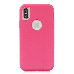 For iPhone X/XS 3 in 1 Fashion Candy Color PC+ Silicone Dustproof Anti-fall Protective Back Case