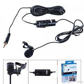 Micro thu âm, gài áo chuyên nghiệp cho điện thoại, máy ảnh Boya By-M1 (Tặng bàn di chuột cao cấp) - Sản phẩm chính hãng