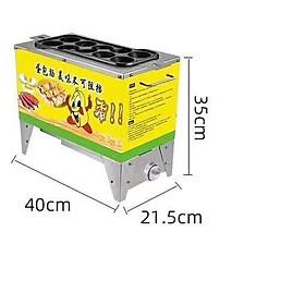 Máy trứng cuộn xúc xich 10 ống dùng gas tiện lợi phù hợp bán di động