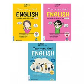 Combo Trọn Bộ 3 Cuốn  Your Very First English - Tự Học Nghe Nói Tiếng Anh  ( tặng kèm bookmark )
