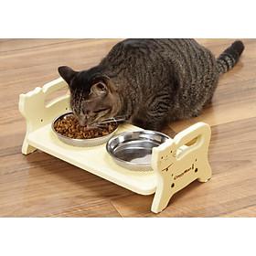 Bàn ăn gỗ cho mèo