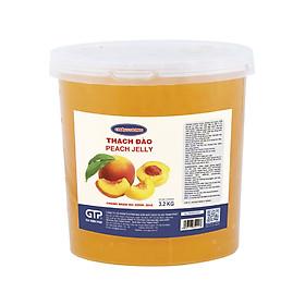 Hạt thạch Đào Châu Lương (3.2kg/hộp) - Topping trà sữa, trà trái cây, trà thạch đào, trái cây tô, yogurt…