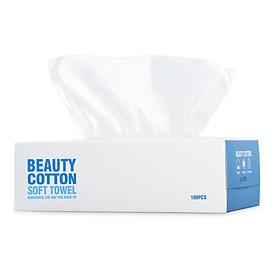Khăn Giấy Cotton Lau Mặt Dùng Một Lần BeiJie (Hộp 100 Miếng)