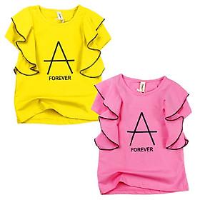 Áo thun kiểu cổ tròn Quảng Châu 15 đến 25 kg cho bé gái 01836-01837(2)