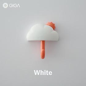 GIGA Essential phong cách Bắc Âu Ins không đục lỗ liền mạch dán mạnh mẽ/móc treo tường không có móc khóa móc/cửa phòng tắm phòng ngủ nhiều màu hoạt hình móc nữ/móc hình đám mây