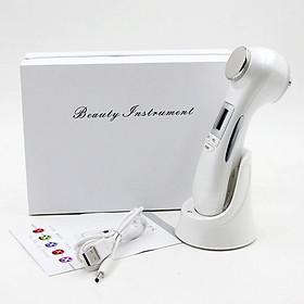 Máy massage mặt điện di 2 đầu ánh sáng sinh học, công nghệ RF, EMS, Vibration 9901