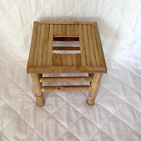 Ghế xông hơi vùng kín bằng tre - Tặng kèm 01 gói xông thảo dược và 01 váy xông hơi vùng kín