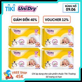 Combo 4 Tã Dán Sơ Sinh UniDry NB36 (36 Miếng)