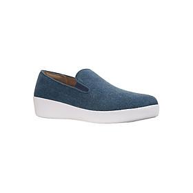 Giày Slip On Nữ FFW Superskate Loafers K73-533 - Blue Shimmer-Denim