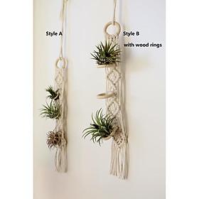 1 dây treo nhiều cây không khí vật phẩm trang trí dây trang trí macrame treo tường