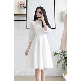 Đầm trắng dự tiệc dạo phố cực cute KingZone DTKZ002