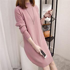 Đầm len nữ trơn dài tay ARCTIC HUNTER DL43