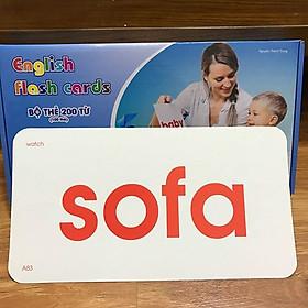 Bộ Thẻ Flash Card Học Tiếng Anh Cho Bé  Học Liệu Glenn Doman - Dạy Trẻ Học nói _ Dạy Trẻ Thông Minh Sớm