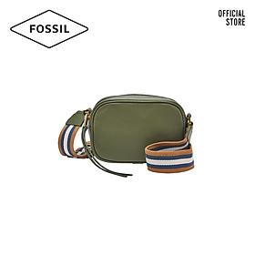 Túi đeo vai nữ khoá kéo nhỏ thời trang Fossil Masie Camera SHB2642350 - màu xanh lá