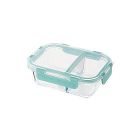 Hộp thủy tinh Lock&Lock 2 ngăn Glass Food Container 600ml, 860ml LLG456 - Hàng chính hãng