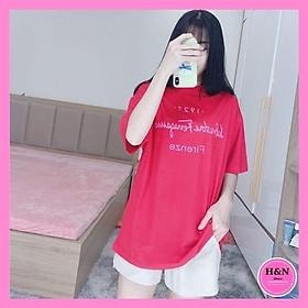 Áo phông chữ thiết kế, áo phông form rộng tạo dáng, phối đồ đa dạng - H&N Store
