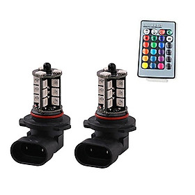 2pcs 9005 9006 H10 Rgb Led Fog  Driving  Bulb Reversing Light