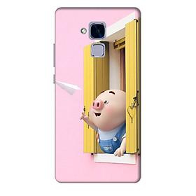 Ốp lưng nhựa cứng nhám dành cho Huawei GR5 Mini in hình Heo Con Máy Bay