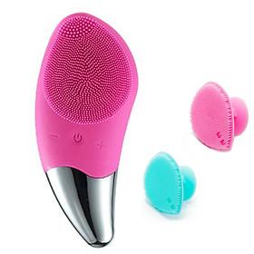 Máy rửa mặt HT SYS SONIC-BR020+02 Dụng cụ Silicon Mềm Dẻo HT SYS Facial Cleansing Fad-[ 01 Bộ Dụng Cụ Chăm Sóc Da]